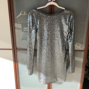 Sequin rachel zoe new dress silver